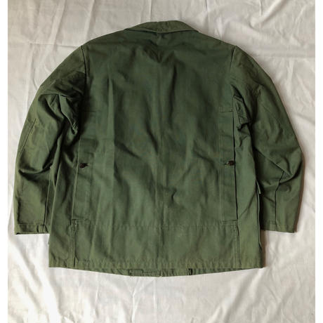 50's  Green Canvas Animal Buttons Hunting Jacket Dead Stock