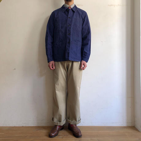 40's〜50's French Hard Cotton Workwear Good Conditioin