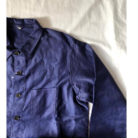 30's Ink Blue Lighter Moleskin Coverall Dead Stock