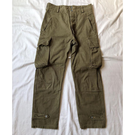 "40's French Army ""Original Aluminium Buttons"" M47 Field Trousers. Good Condition"