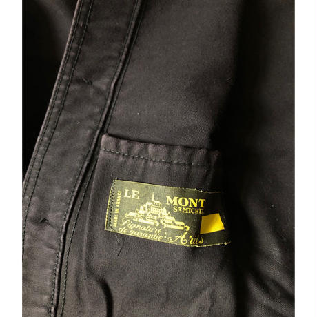 "50's Black Moleskin Coverall Made by ""Le Mont St Michel"""