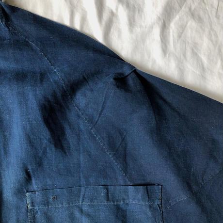 〜1920's Homemade Indigo Linen Work Apron