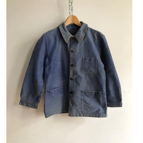 """40's Ink Blue Moleskin Coverall Made by """"Le Beaufort"""""""