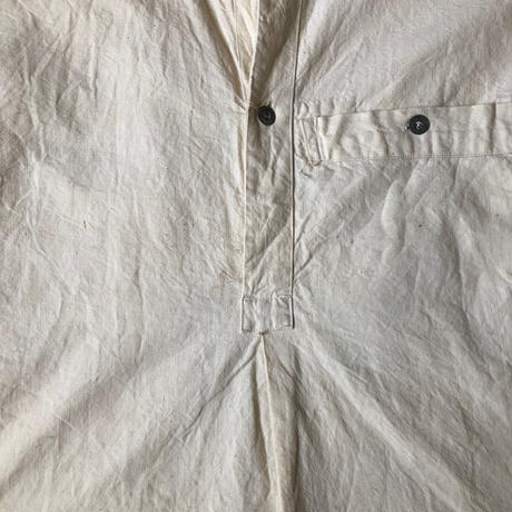 〜1930's French Military Metis(Cotton/Linen) Bourgeron Smock