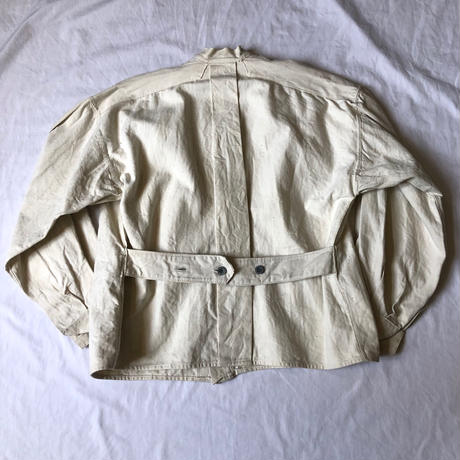 〜1930's French Military White HBT Linen Bourgeron Jacket