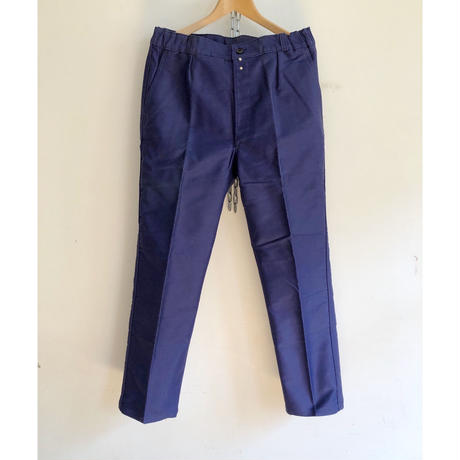 50's Ink Blue Moleskin Trousers Dead Stock