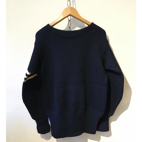 40's〜50's BOAT NECK LETTERD SWEATER