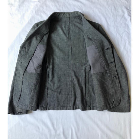 〜1930's Special Fabric Cotton Sack Jacket (Persimmon Button)