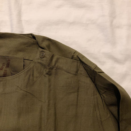 "70's Euro Military ""Cotton Fabric"" Hospital Shirt Dead Stock"