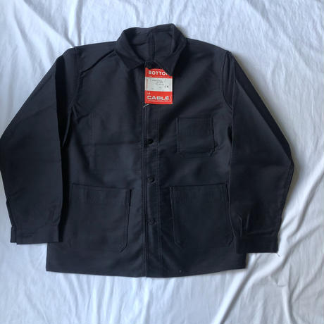"60's Black Moleskin  Coverall Dead Stock Made by ""BOTTON le CABLE"""