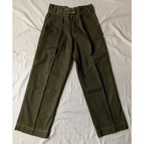 40's British Colony Jungle Trousers Good Condition