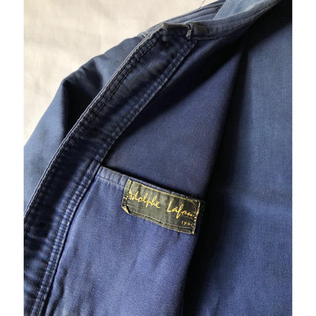 "40's〜50's  Ink Blue Moleskin Coverall Made by ""Adolphe Lafon"""