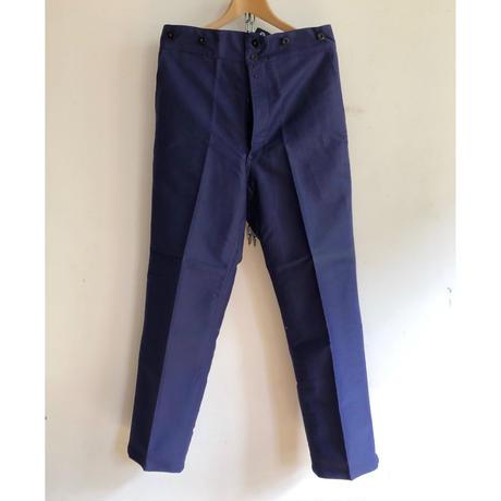 30's〜Ealry 40's Inl Blue Moleskin Trousers With Back Cinch Dead Stock