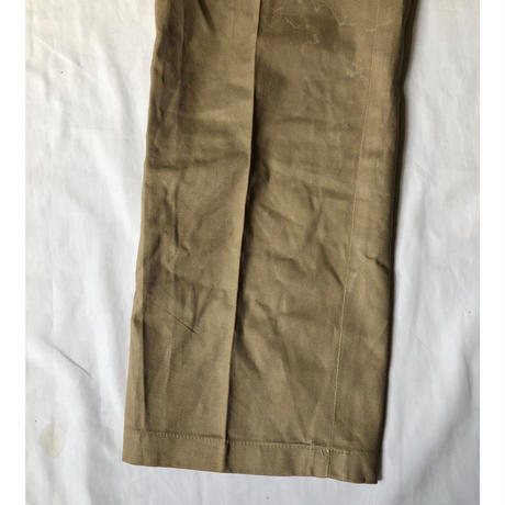 "50's French Army Chino Trousers ""Colony Made"" Dead Stock"