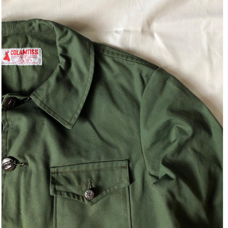 50's〜60's  Green Canvas Animal Button Hunting Jacket Dead Stock