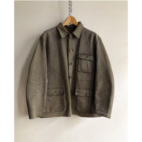 "Later40's〜Early50's Animal Button Hunting Jacket Made by ""Le Mont St Michel"""