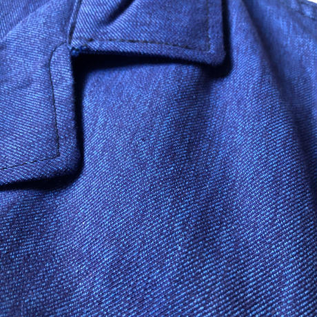 "50's/60's  Blue Chambray Atelier Coat Dead Stock  Made by ""SAVO"""