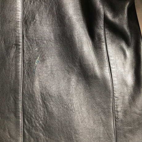 French Leather Double Breasted Work Jacket
