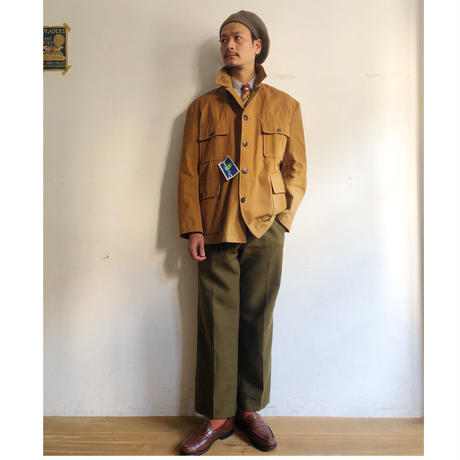 "50's Animal Buttons Canvas ""Game Keeper"" Jacket Dead Stock"