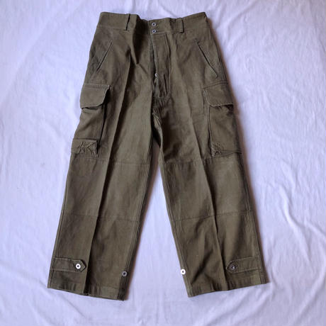 Early50's French Army M47 Field Trousers Metal Button 13.