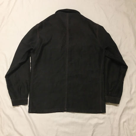 40's Black Moleskin Coverall Jacket