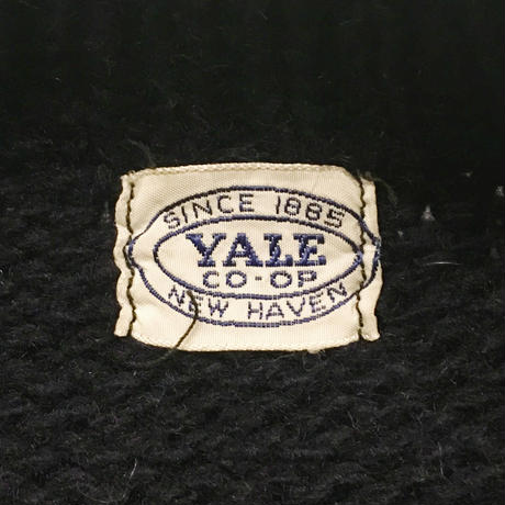 〜50's YALE University CO-OP Plain Letterman Sweater