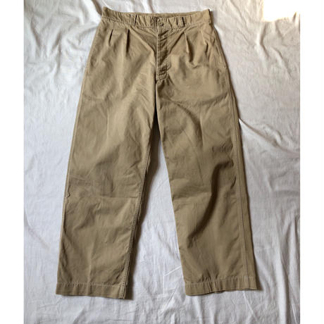 "50's French Army Chino Trousers ""33"" Excellent Condition"