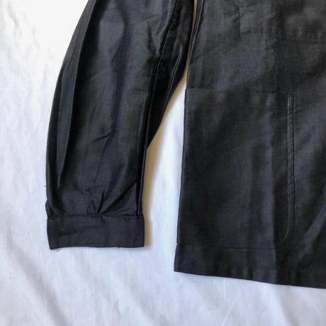 30's Lighter Black Moleskin Coverall Dead Stock