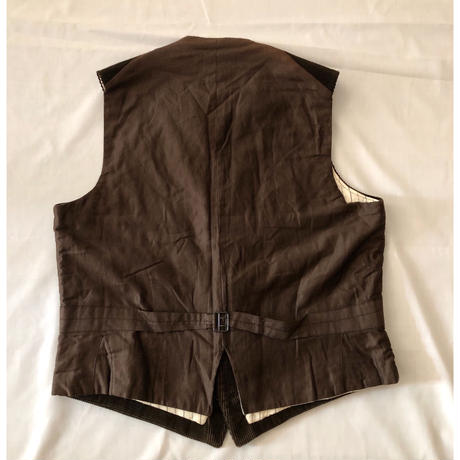 30's Old Pattern Animal Buttons Corduroy Hunting Vest Dead Stock