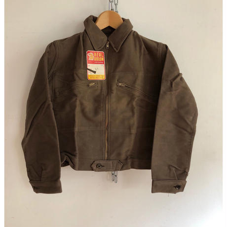 "40's Brown Moleskin ""Cyclist"" Jacket Dead Stock"