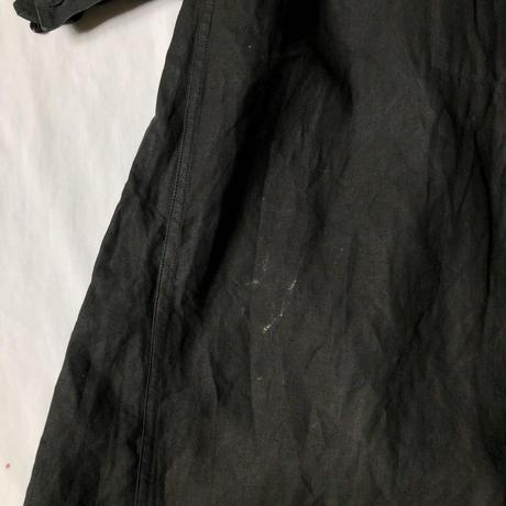 〜1930's Black Indigo Linen Open Biaude