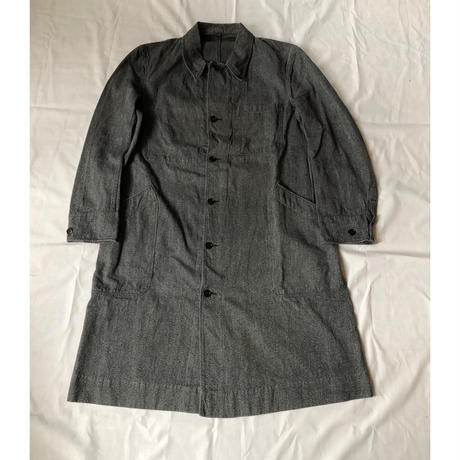 50's French Railroad Black Chambray Work Coat