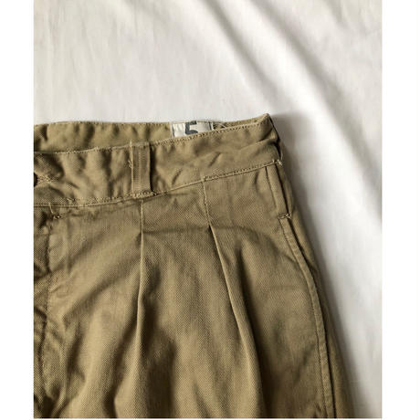 50's French Army Chino Shorts Dead Stock (After Drying) 5