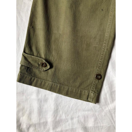 "Later 50'〜60's  French Army M47 Field Trousers ""Local Fabrication"" 33"