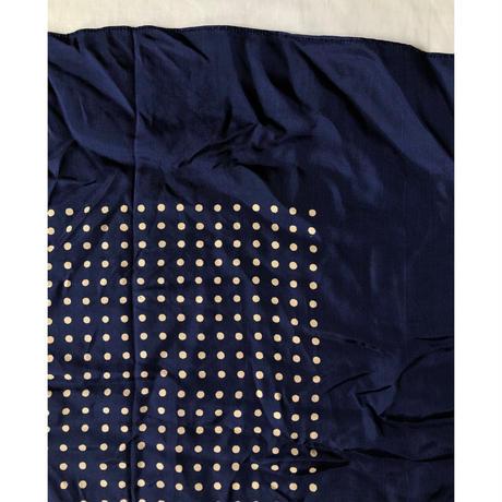 Vintage Polka Dots Rayon Big Scarf
