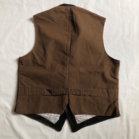 40's〜50's Animal Buttons Corduroy Hunting Vest Mint Condition