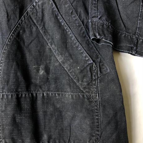 1950's Black Linen Work Coat