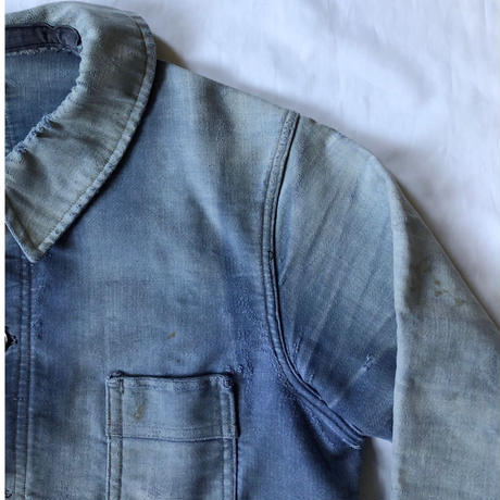 """40's Ink Blue Home Repaired Moleskin Coverall Made from """"Maximum"""""""