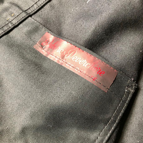 Early50's Black Moleskin Coverall Dead Stock Made by Dubure&Deverchere
