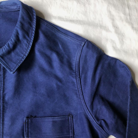 "50's/60's Ink Blue Moleskin Coverall Made by ""Le Mont St Michel"""