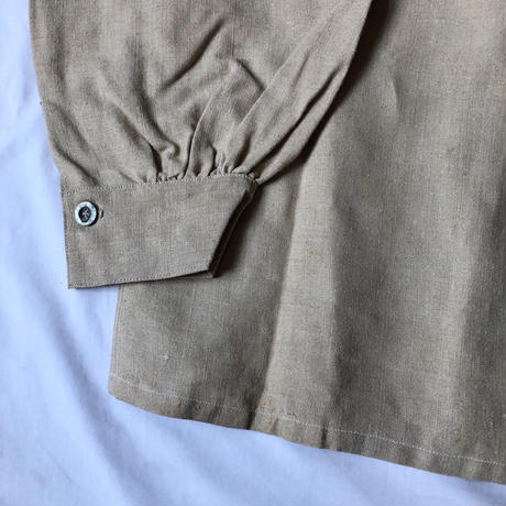 "Later30's〜40's French Military Bourgeron Smock Dead Stock, With ""HC"" Stenciled"