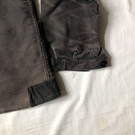 40's/50's  Repaired Black Moleskin Coverall/2