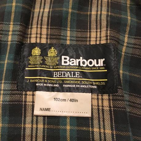 80's Vintage Barbour 2Crest BEDALE