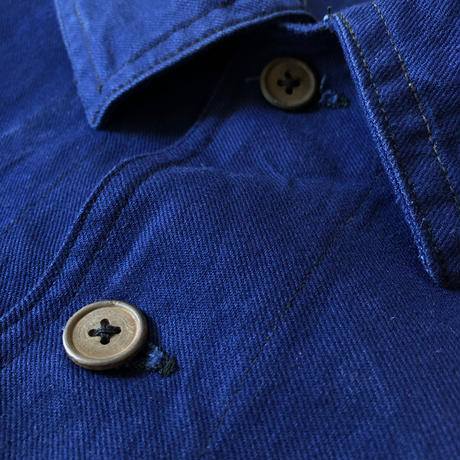 1940's French Military Work Jacket Wood Buttons