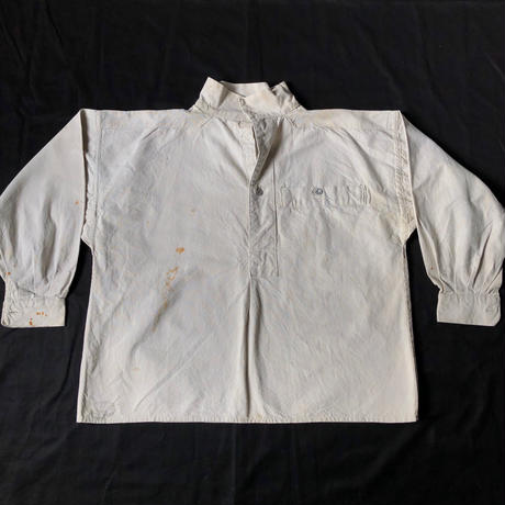 1915's French Military Cotton Canvas Bourgeon Smock