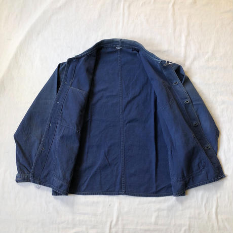 Later40's Cotton Work Coverall V Pocket