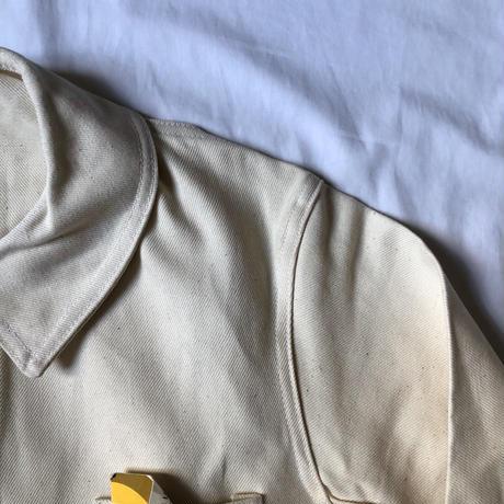 50's Natural Cotton Painter Jacket Dead Stock.