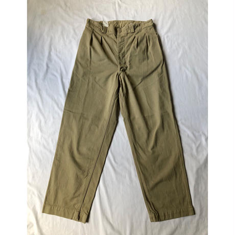 50's French Army M52 Chino Trousers Dead Stock (After Drying) 34