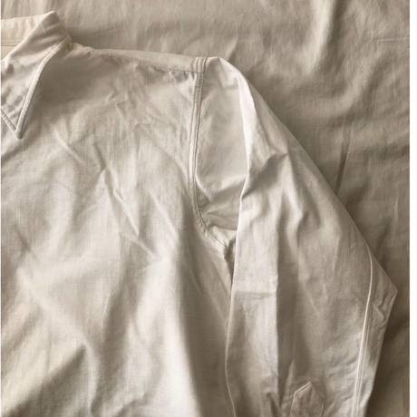 30's〜40's French White Farmers Shirt Old Pattern Exellent Condition