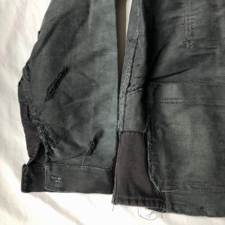 40's/50's Repaired Black Moleskin/1